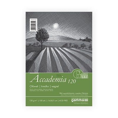 Blok rysunkowy Fabriano Accademia A4 120 g 50 ark Gamma